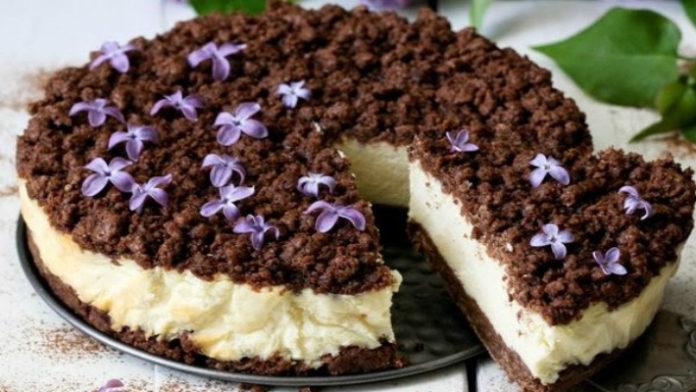 Вкусный творожный пирог