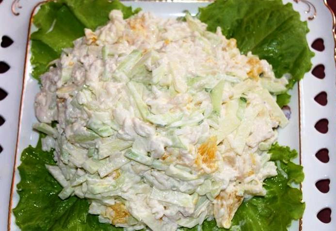 Вкусный и легкий салат «Романтик»