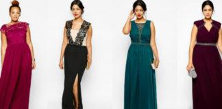 Правила и запреты при выборе вечернего платья для пышек