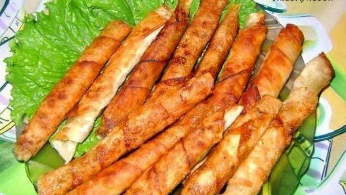 Закусочные трубочки из лаваша
