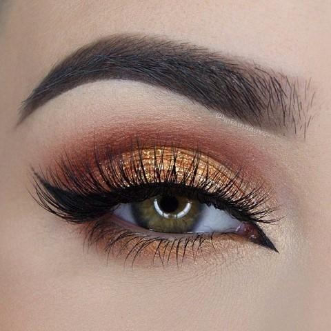 11 шикарных примеров макияжа для зеленых глаз9