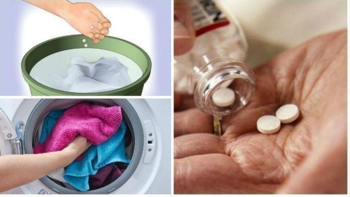 Она бросила в стиральную машинку таблетку аспирина