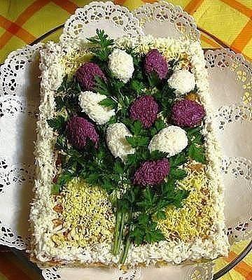 Топ 10 салатов цветов 1