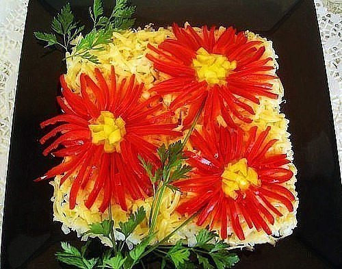 Топ 10 салатов цветов 4