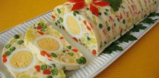 Яркий салат-желе на Новый год