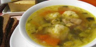 Быстрый болгарский суп. Сырные шарики