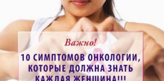 10 симптомов в онкологии, о которых должна знать каждая женщина