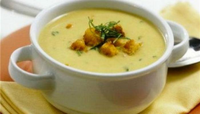 Гороховое суп пюре с копченостями