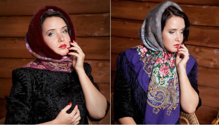 Как красиво повязать платок зимой: 10 модных образов. Тренд на века