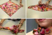 Как красиво завязать платок на шее