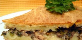 Пирог из мойвы (или другой рыбы) с картошкой