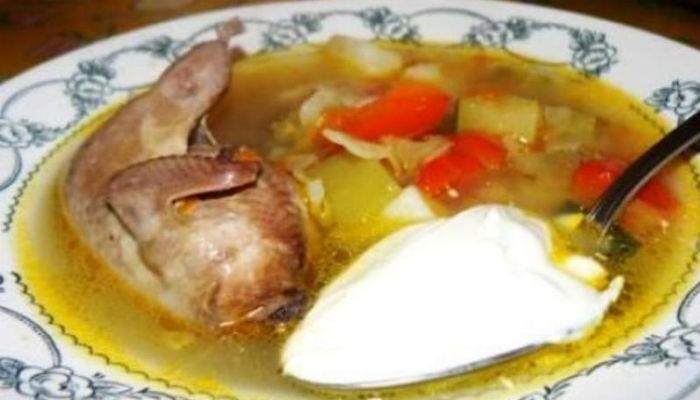Суп из рябчика с яйцом
