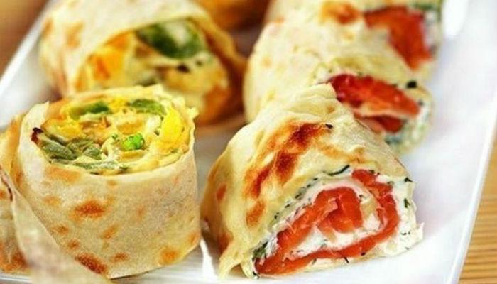 11 диетических начинок для рулета из лаваша или рисовой бумаги