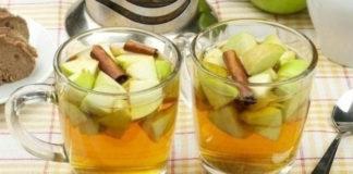 Имбирный чай с яблоками