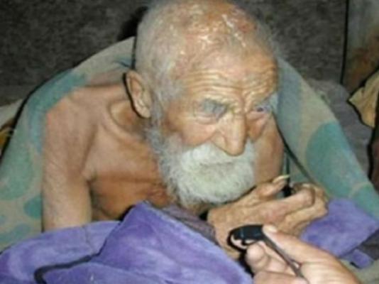 Старец готов поделиться секретом 180-летия
