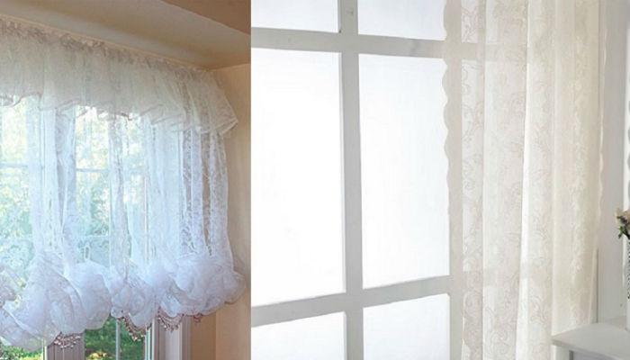 Как стирать белые занавески