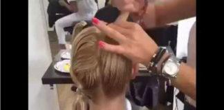 Необычный способ стрижки - модная стрижка с помощью хвостиков