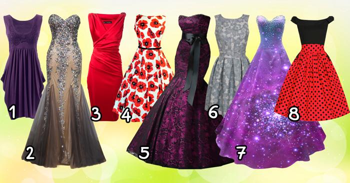 Интересный тест: выберите платье и мы расскажем, какой этап жизни Вы переживаете!