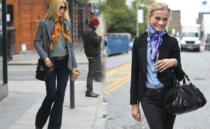 Как завязать платок на шее – учимся у француженок