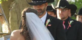 Невесте было нелегко подойти к алтарю