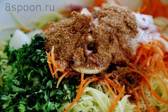 Салат из кабачков на зиму по-корейски