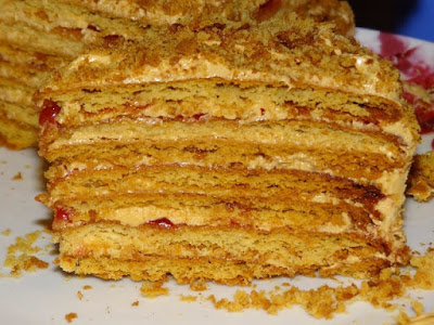 Торт на сковороде за полчаса