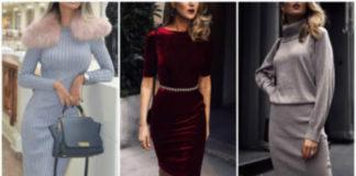 23 уникальных идей трикотажных платьев