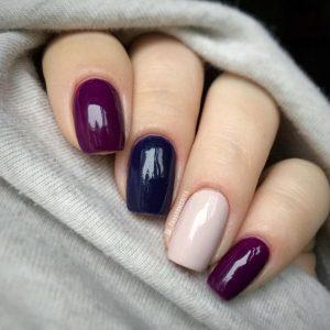Топ 20 вариантов как красиво совместить различные цвета в маникюре