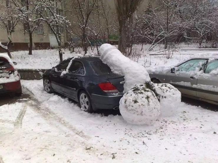 Когда припарковался слишком нагло