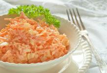 Легкий морковный салат с чесночком, для тех, кому важен вес