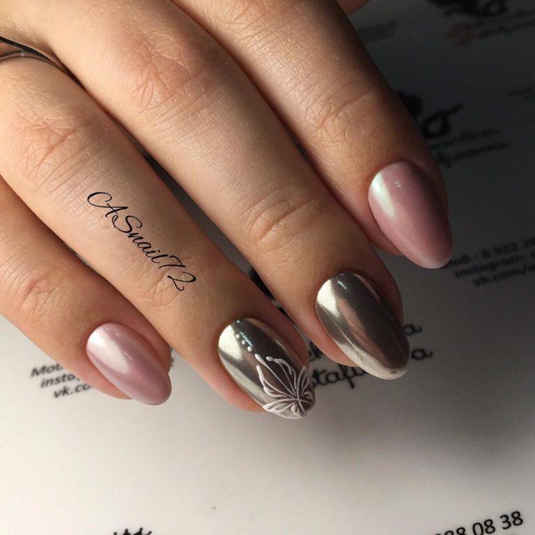 15 прекрасных вариантов дизайна ногтя с помощью жемчужной втирки