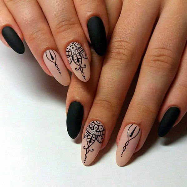 Варианты маникюра на миндалевидную форму ногтей