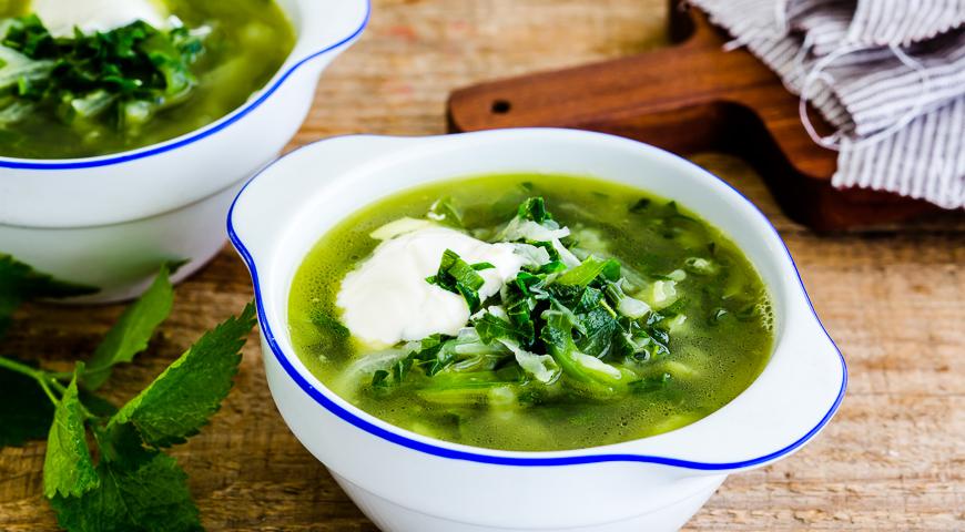 Зеленый борщ- вкусно и сытно