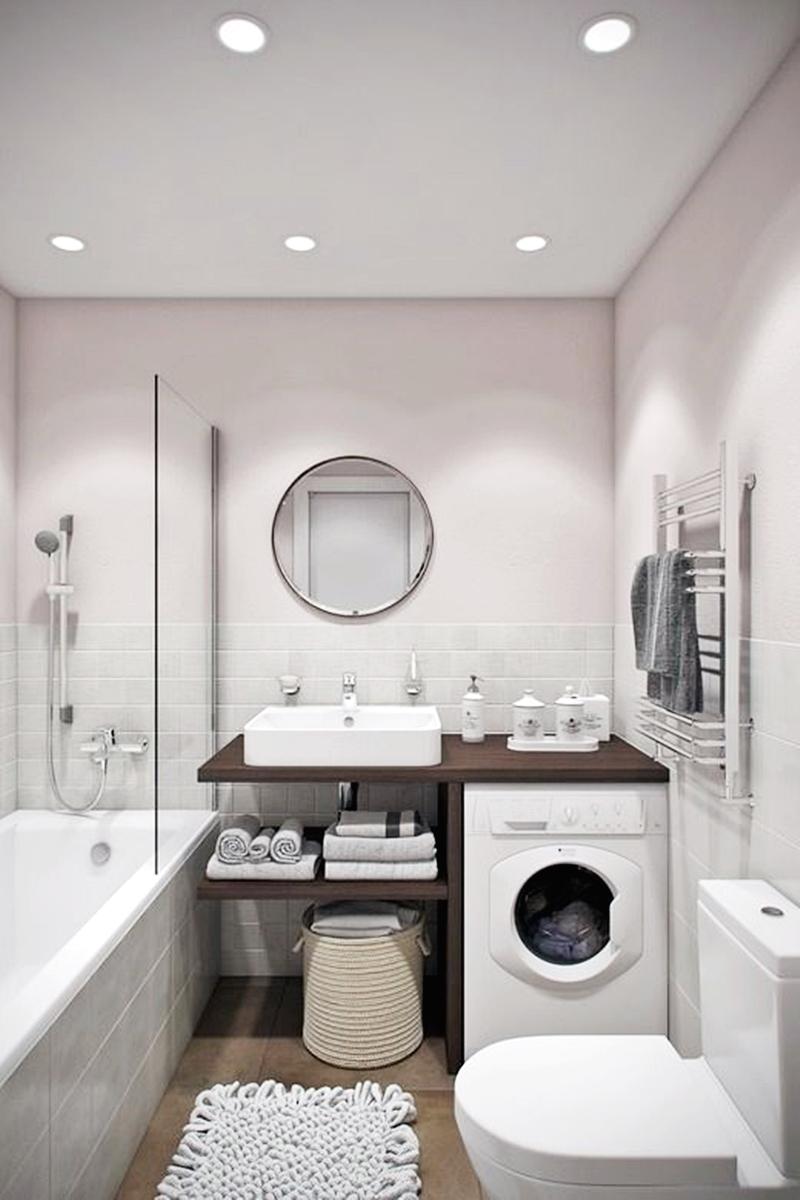 25 компактных решений для крошечной ванной23