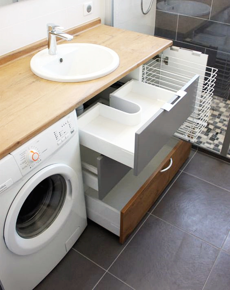 25 компактных решений для крошечной ванной7