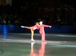 Пара вышла на лёд и показала настоящий шик (видео)