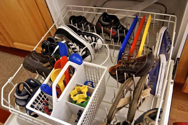 Как пользоваться посудомоечной машиной: мыть обувь