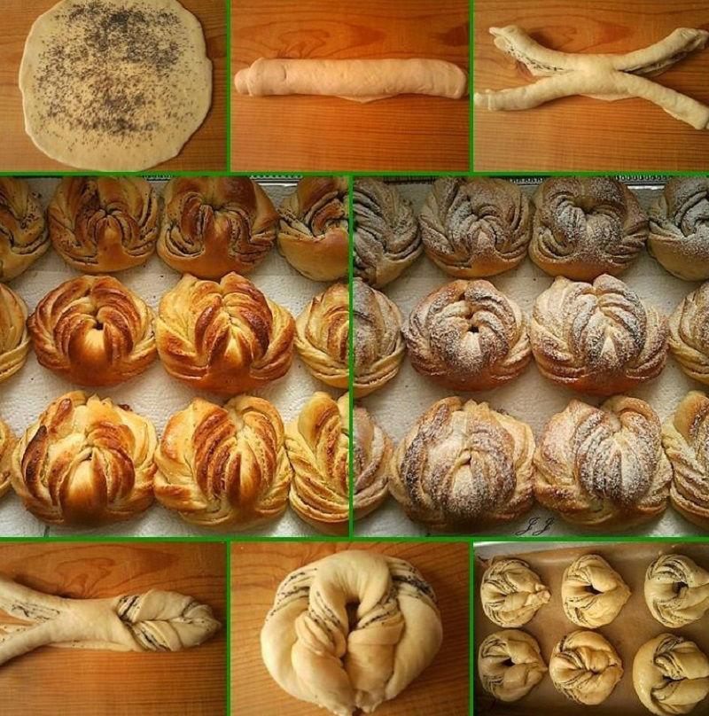 Красивые булочки разной формы фото