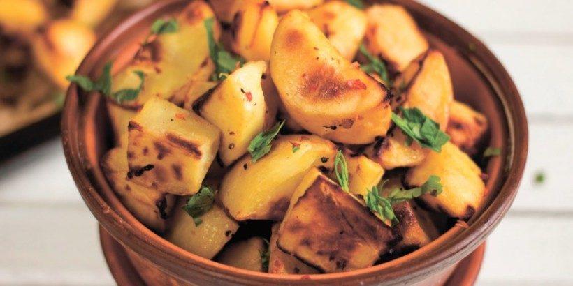 Запечённый картофель с горчично-лимонной корочкой