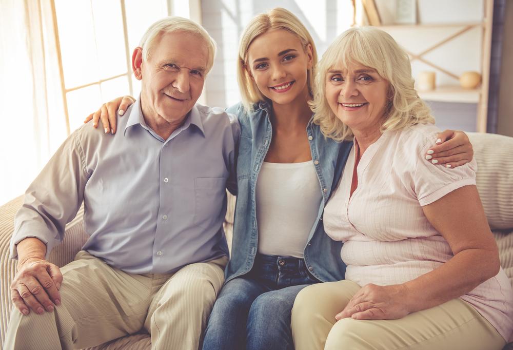 дочь и родители