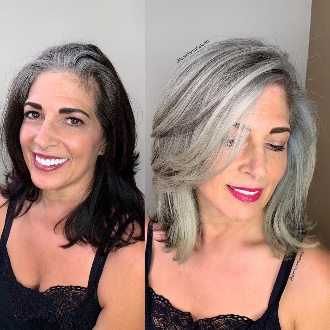 19 работ парикмахера, который возвращает клиенткам естественную седину так, что её больше не хочется скрывать