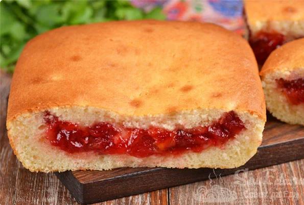 Пирог с вареньем: простой и вкусный рецепт заливного пирога - 1